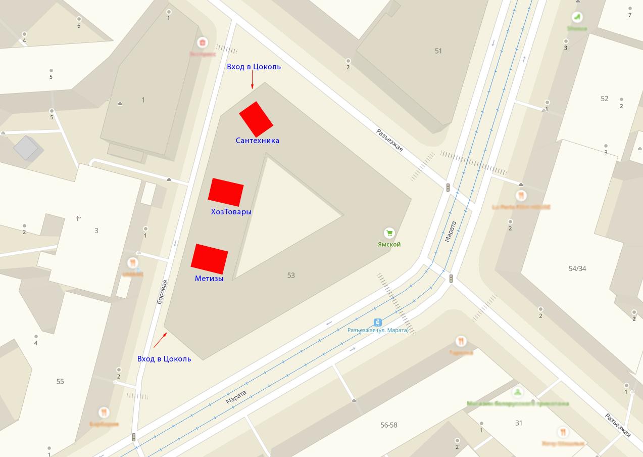 Строительные магазины в СПб на карте фото