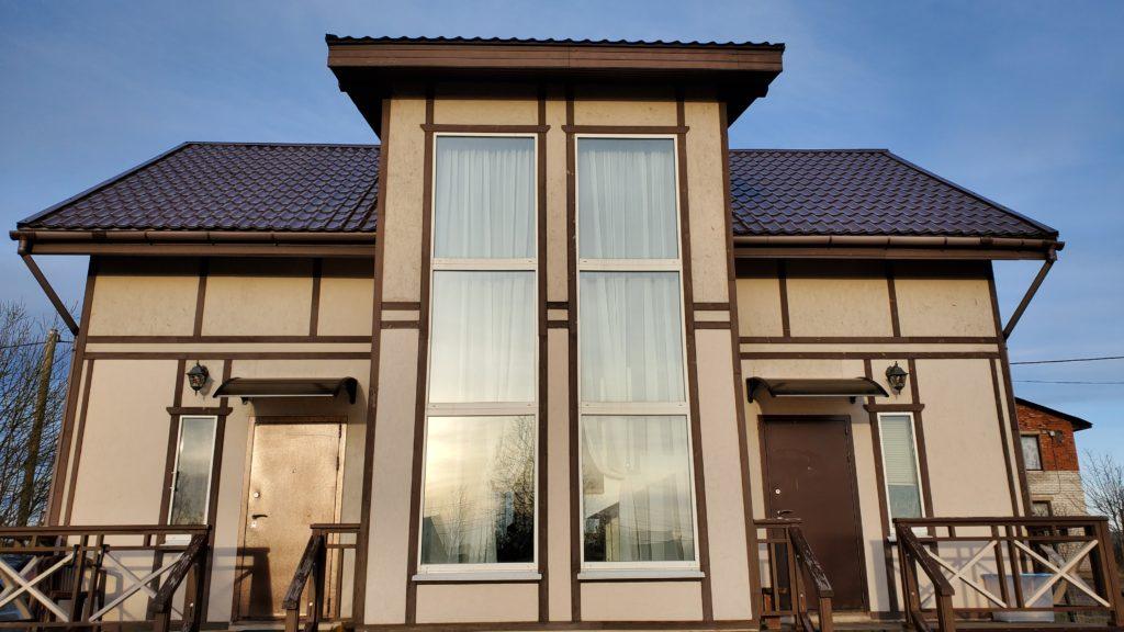 Дом, окрашенный фасадной краской